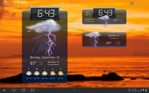HD Widgets for Honeycomb Android tablet PCs