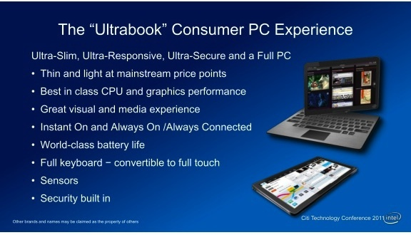 Intel Ultrabook Tablet PC